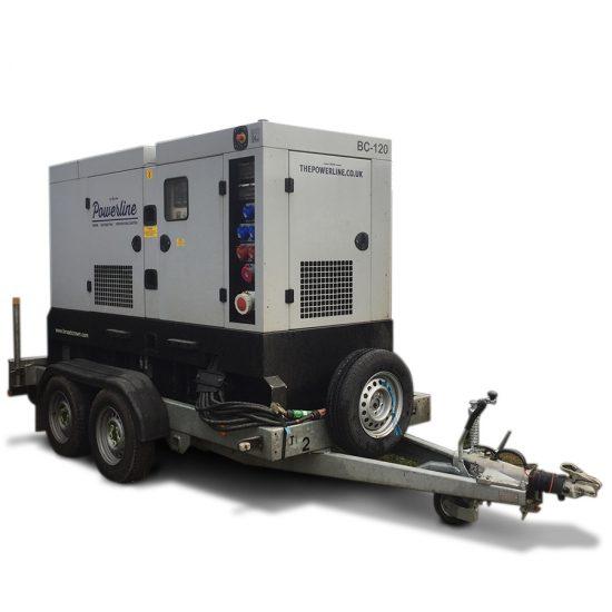 120 kVA Road Tow Generator Hire